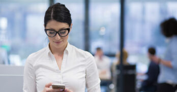 Woman Texting   23 Social Media Marketing Tips Every Business Can Use