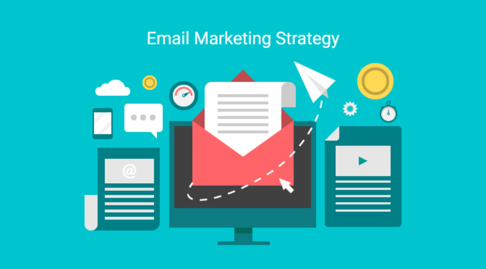 Computer and Envelope   How To Create An Email Marketing Strategy That Drives Results