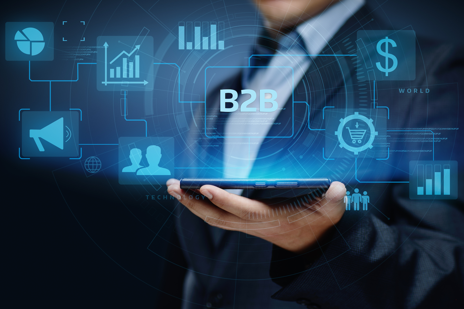 Man Holding a Tablet | B2B Ecommerce: 9 Tips To Help Execute Your Strategy