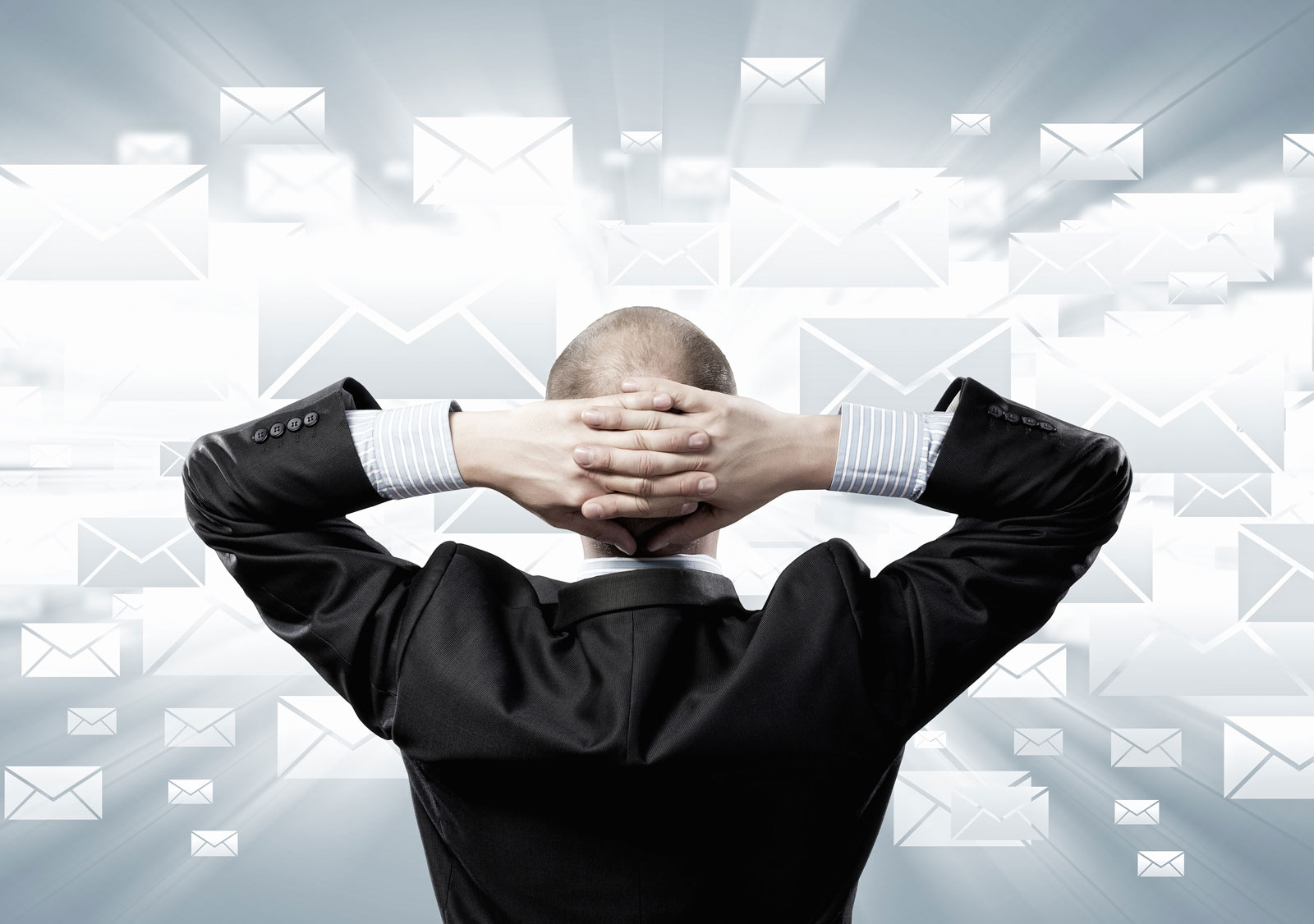 Man Holding His Hand   5 Free Email Marketing Services For Businesses On A Budget