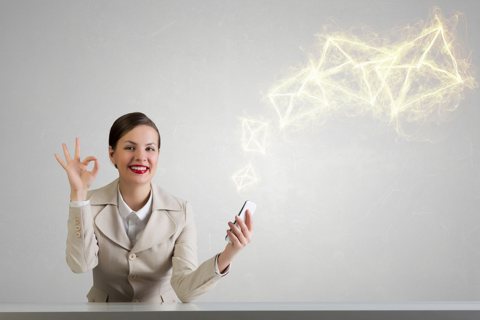 Woman Okay Sign   5 Free Email Marketing Services For Businesses On A Budget