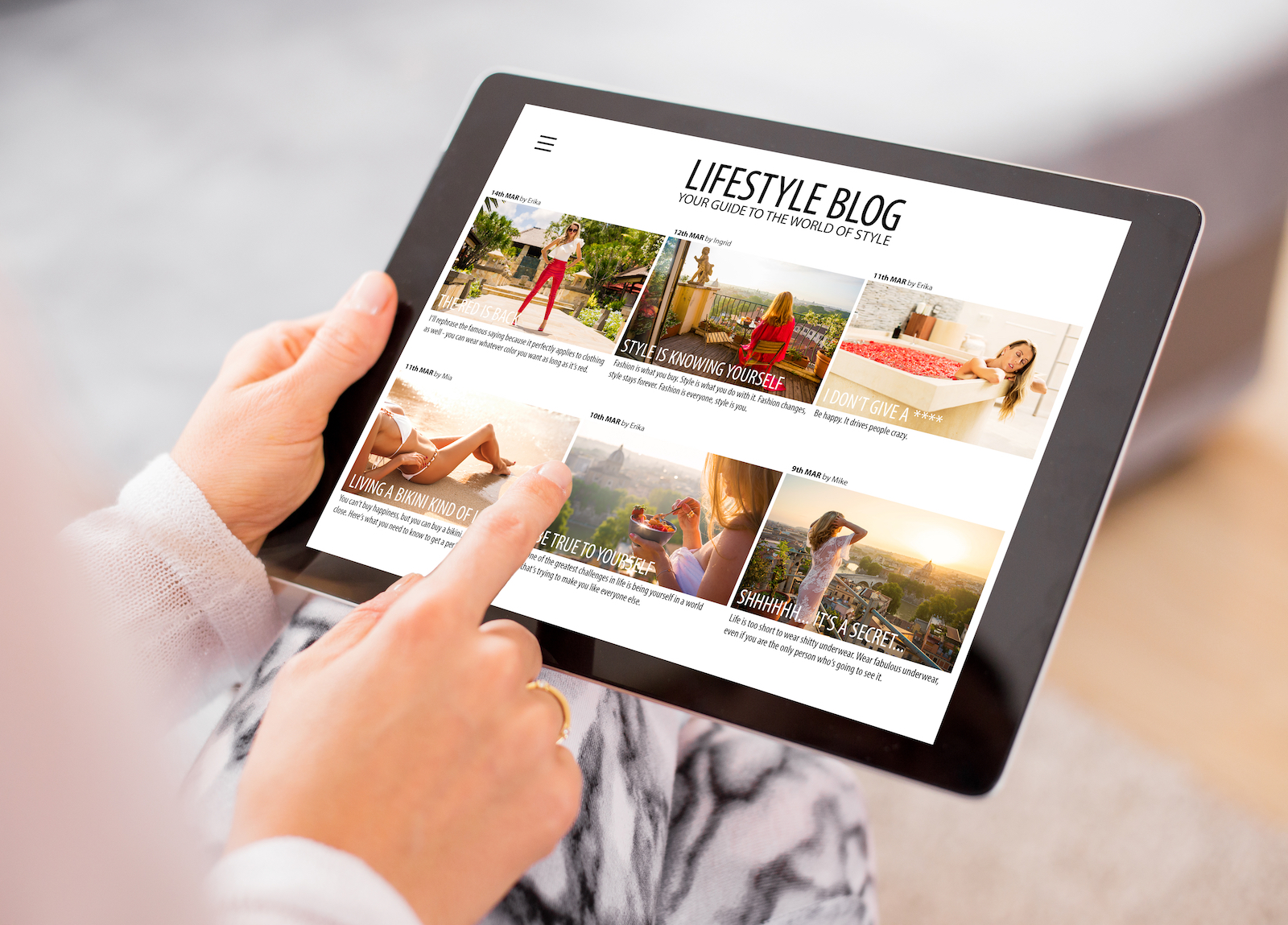iPad | How To Customize A WordPress Template For The Perfect Site