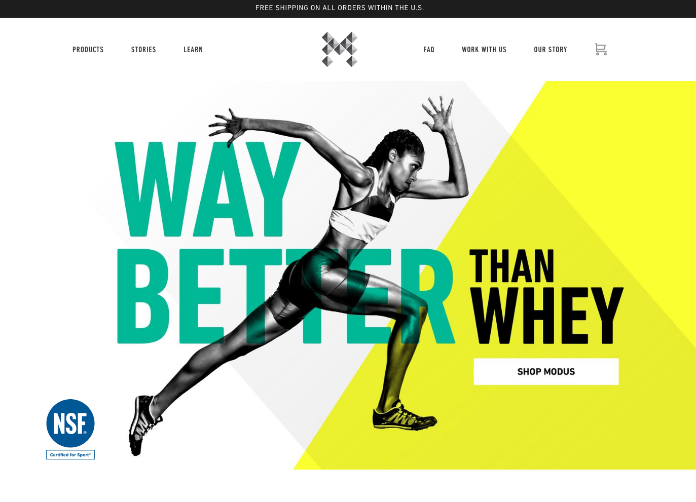 Modus Nutrition | 14 Examples Of Beautiful, Easy-To-Shop Ecommerce Websites