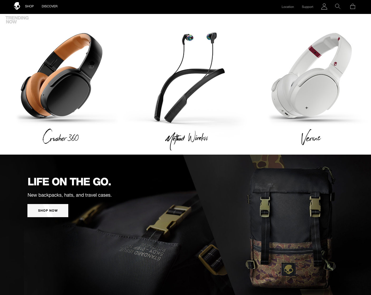 Skullcandy | 14 Examples Of Beautiful, Easy-To-Shop Ecommerce Websites
