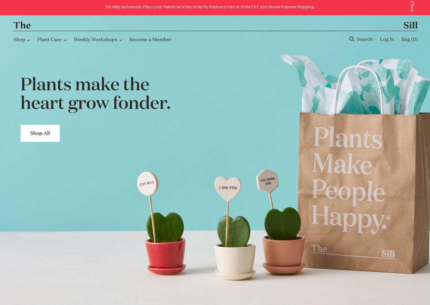 The Sill | 14 Examples Of Beautiful, Easy-To-Shop Ecommerce Websites