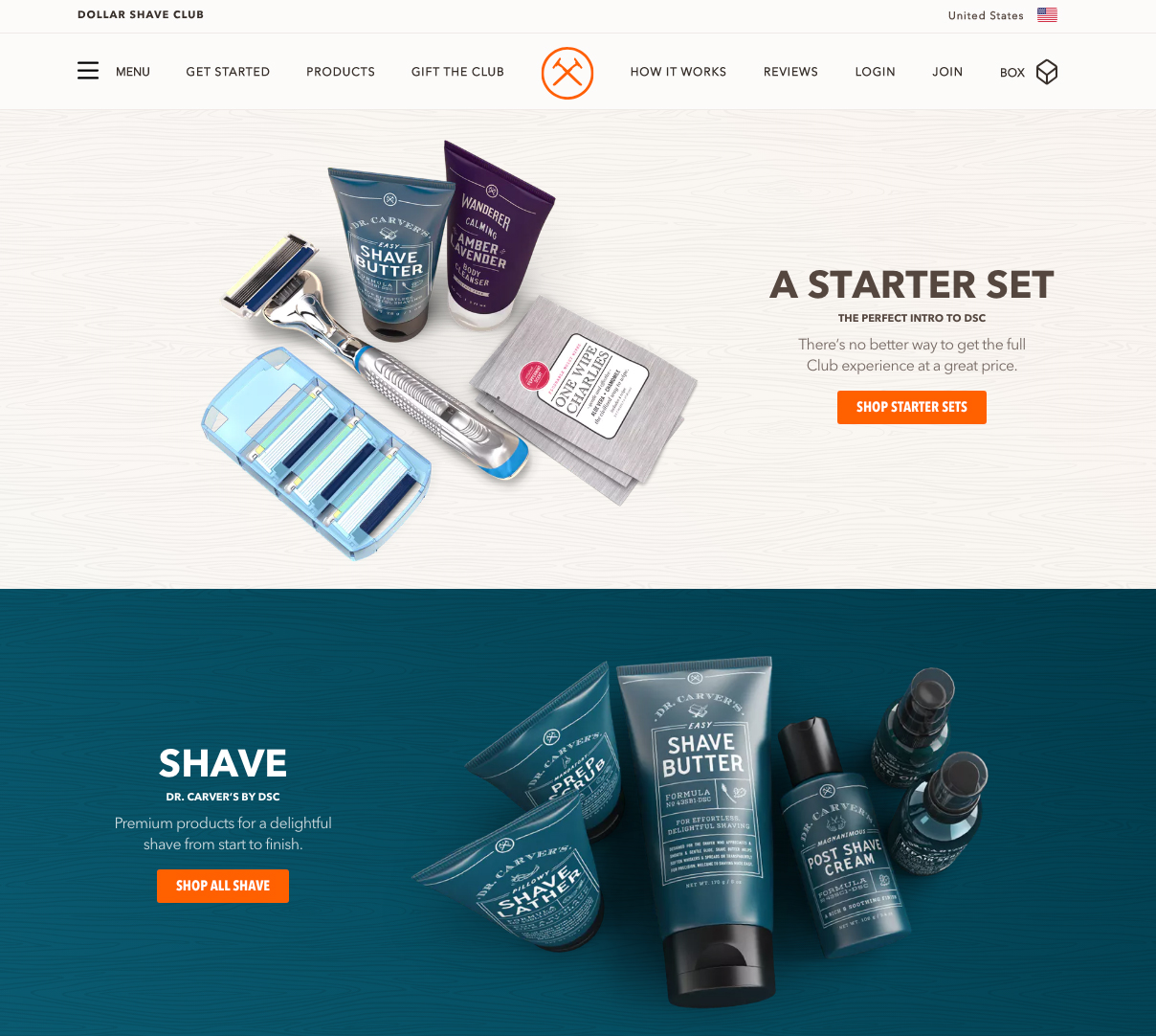Dollar Shave Club | 14 Examples Of Beautiful, Easy-To-Shop Ecommerce Websites