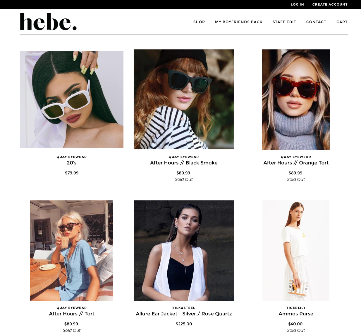 Hebe Boutique | 14 Examples Of Beautiful, Easy-To-Shop Ecommerce Websites