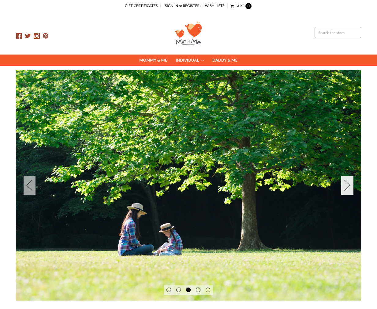 Mini+Me | 14 Examples Of Beautiful, Easy-To-Shop Ecommerce Websites