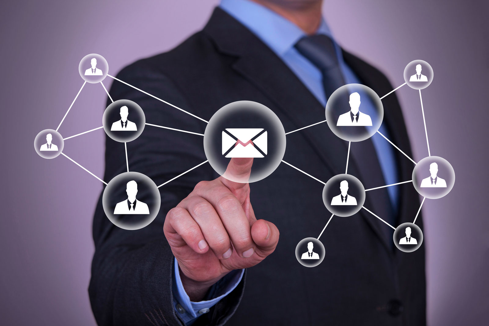 Man Pointing an Envelope | Email Marketing Automation: Get More Results In Less Time