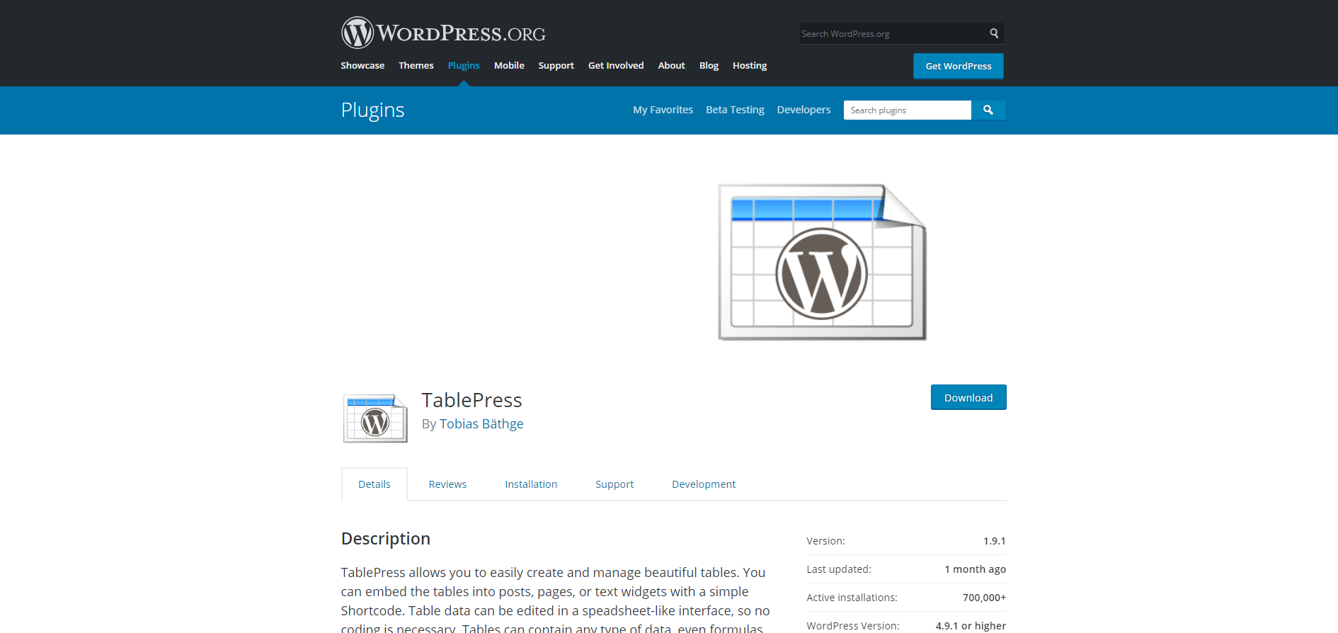 TablePress | 18 Most Popular WordPress Plugins For Your Business Needs