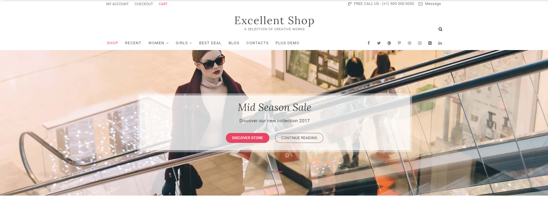 Lady Riding An Escalator   13 Best WordPress Themes For All Types Of Blogs & Websites