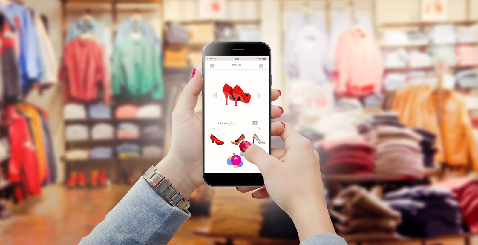 Smartphone Being Use | The Definitive Guide To Understanding Shopify Ecommerce