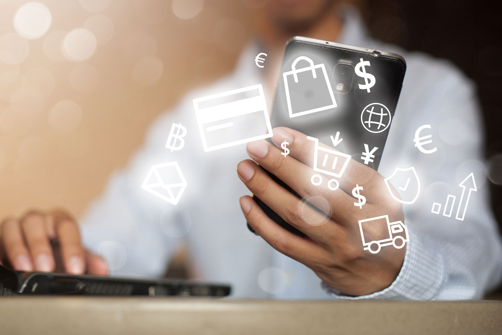 Using A Smartphone | Ecommerce Solutions: The 31 Best Platforms, Plugins, & Tools